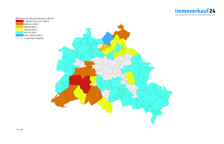 Karte Grundstückspreise Berlin