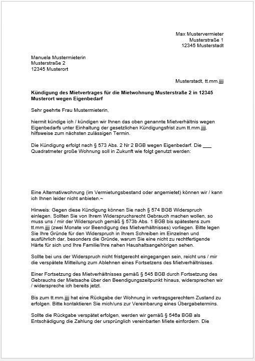 Kündigung Eigenbedarf Frist : eigenbedarfsk ndigung 15 punkte checkliste muster pdf ~ Lizthompson.info Haus und Dekorationen